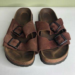 Betula sandals slides women size 8 brown suede